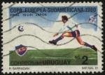 Stamps of the world : Uruguay :  Club Nacional de Futbol campeón intercontinental año 1981.
