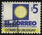 Sellos de America - Uruguay -  Emblema del correo nacional.