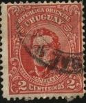 Stamps Uruguay -  General Artigas.