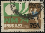 Sellos de America - Uruguay -  Campeonato mundial de futbol Alemania 1974. Homenaje a los campeones de 1950 en Maracaná.