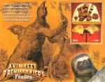 Sellos del Mundo : America : Perú : Fósiles Animales Prehistóricos MEGATHERIUM