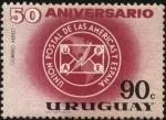 Stamps Uruguay -  50 años de la Unión Postal de las Américas y España.