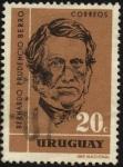 Stamps Uruguay -  Bernardo Prudencio Berro y Larrañaga 1803 - 1868, político y escritor uruguayo, miembro del Partido