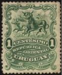Stamps Uruguay -  Arreo de vacunos.