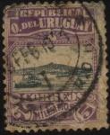 Sellos de America - Uruguay -  Vista de la bahía y del cerro de Montevideo.