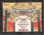 Sellos del Mundo : America : Perú : 160 Años de la Inmigración China al Perú
