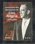 Stamps Peru -  Centenario del Nacimiento de Ciro Alegría 1909 - 2009