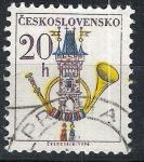 Stamps Czechoslovakia -  Corneta de correos.
