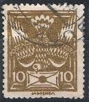 Sellos de Europa - Checoslovaquia -  serie básica, paloma con carta.
