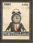 Sellos del Mundo : America : Perú : Valores Culturales - Puntualidad