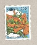 Sellos de Africa - República del Congo -  Flor Delonix regia