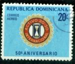 Sellos de America - Rep Dominicana -  50º aniv. Club 20-30 Internacional