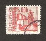 Sellos de Europa - Checoslovaquia -  vista de ostrava