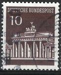 Stamps Germany -  Puerta de Bradenburg