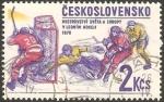 Stamps Czechoslovakia -  campeonato europeo de hockey hielo, en praga
