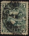 Sellos de America - Uruguay -  Sello cifra de 1889.