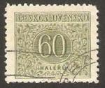 Stamps Czechoslovakia -  cifra