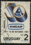 Sellos de America - Uruguay -  50 años de ANCAP. Administración Nacional Combustibles Alcohol y Portland.