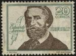 Stamps Uruguay -  Dr. Eduardo Acevedo 1857 - 1948. Abogado, historiador y político.