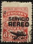 Sellos de America - Uruguay -  Franquicia postal de 1943 sobrecargado Servicio Aéreo.
