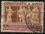 Sellos de America - Uruguay -  Un gran amor es el alma misma de quien ama. Monumento al escritor José Enrique Rodó en Montevideo.