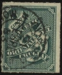 Sellos de America - Uruguay -  Sello cifra del año 1877.