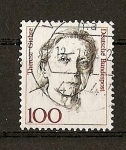 Stamps Germany -  (RFA) Serie Basica / Therese Giehse