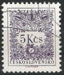 Sellos de Europa - Checoslovaquia -  Básica . Motivos florales