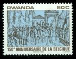 Sellos de Africa - Rwanda -  150º aniv. Bélgica