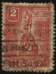 Sellos de America - Uruguay -  100 años del nacimiento de José Pedro Varela 1845 - 1879. Sociólogo, periodista y político. Reformad