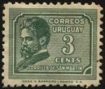 Stamps America - Uruguay -  Juan Zorrilla de San Martín. 1855 —1931. Escritor, periodista, docente y diplomático.