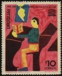 Stamps Uruguay -  UNESCO. 1970 Año internacional de la educación. Dibujo infantil.