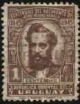 sellos de America - Uruguay -  100 años del nacimiento de José Pedro Varela, impulsor de la educación laica, pública y obligatoria.