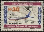 Sellos de America - Uruguay -  50 años de PLUNA. Líneas Aéreas Uruguayas.