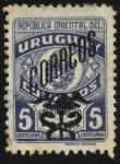 Stamps America - Uruguay -  Escudo Nacional. Sello de franquicia postal sobrecargado CORREOS con pétaso alado y el caduceo.