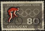 Stamps Uruguay -  XVIII olimpíadas de Tokio año 1964. Ciclismo