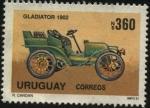 Stamps America - Uruguay -  Autos antiguos. Gladiator de 1902.
