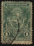 Sellos de America - Uruguay -  Banderas y el Escudo Nacional.