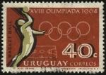 Stamps Uruguay -  XVII Olimpíadas Tokio año 1964. Basket Ball.