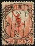 Sellos de America - Uruguay -  Mercurio1922 2 centésimos