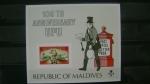 Stamps Asia - Maldives -  centenario de la U.P.U.