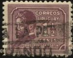 Sellos del Mundo : America : Uruguay : Juan Zorrilla de San Martín. 1855 —1931. Escritor, periodista, docente y diplomático.