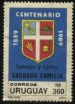 Stamps Uruguay -  100 años del Colegio y Liceo Sagrada Familia de Montevideo.
