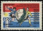 Sellos de America - Uruguay -  Campeonato mundial de futbol Argentina 78. Presencia del seleccionado uruguayo en 7 campeonatos.