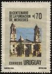 Stamps Uruguay -  200 años de la fundación de la ciudad de Mercedes capital del departamento de Soriano. Catedral Nues