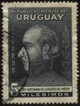 Sellos de America - Uruguay -  100 años de la muerte del Prócer Artigas. Ayudante de Blandengues en el año 1809.