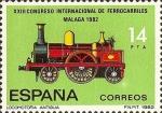 Stamps Spain -  XXIII CONGRESO INTERNACIONAL DE FERROCARRIL
