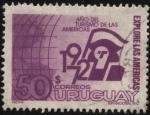 Sellos de America - Uruguay -  Explore las Américas. 1972 año del turismo de la Américas.