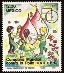 Stamps Mexico -  Campaña Mundial Contra La Polio