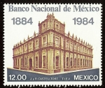 sellos de America - México -  Centenario del Banco Nacional de México
